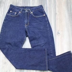 Lucky Brand Dungarees Dark wash high waisted jeans